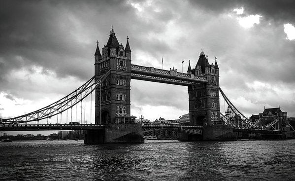 London's Tower Bridge, Black and White - Art Print from Wallasso - The Wall Art Superstore