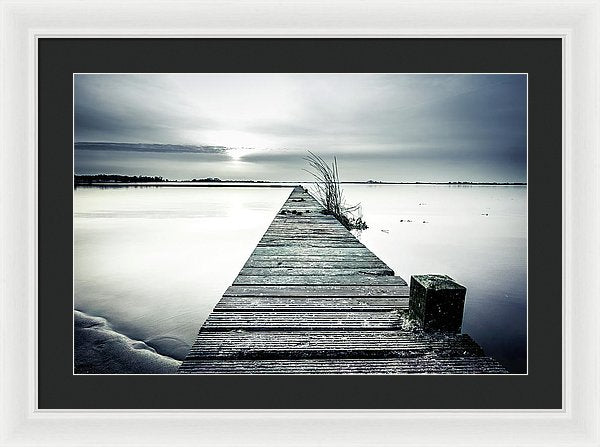 Long Boardwalk Across Still Waters - Framed Print from Wallasso - The Wall Art Superstore