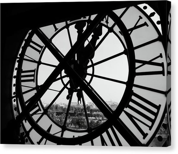 Looking Out The Notre Dame Clock Window - Canvas Print from Wallasso - The Wall Art Superstore