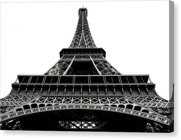 Looking Up At Eiffel Tower - Canvas Print from Wallasso - The Wall Art Superstore