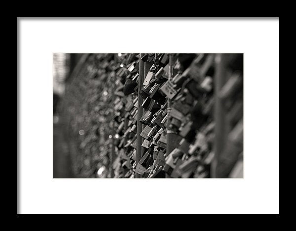 Love Locks On Fence - Framed Print from Wallasso - The Wall Art Superstore
