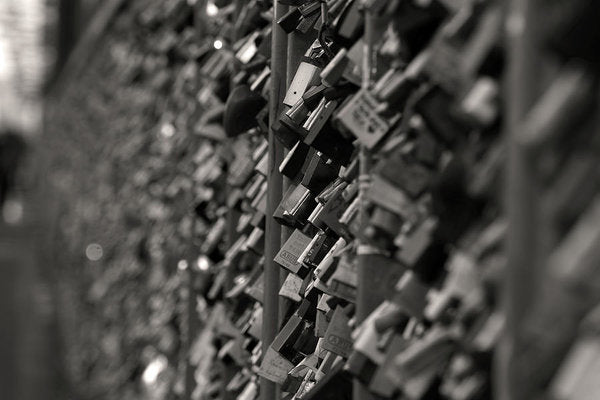 Love Locks On Fence - Art Print from Wallasso - The Wall Art Superstore