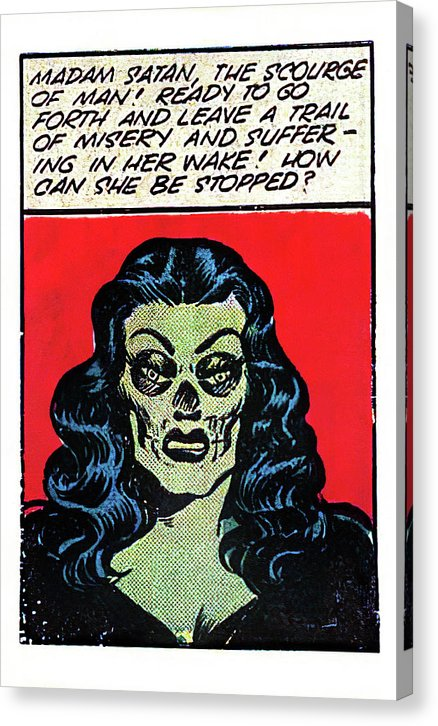 Madam Satan, Vintage Comic Book - Canvas Print from Wallasso - The Wall Art Superstore