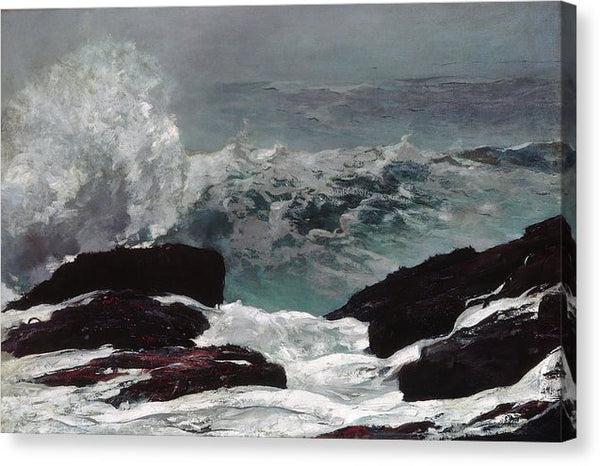 Main Coast by Winslow Homer, 1896 - Canvas Print from Wallasso - The Wall Art Superstore