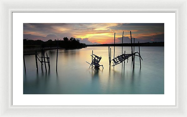 Mangled Remains of An Old Boardwalk, Panoramic - Framed Print from Wallasso - The Wall Art Superstore