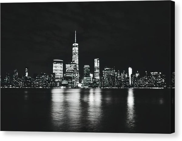 Manhattan Skyline At Night - Canvas Print from Wallasso - The Wall Art Superstore
