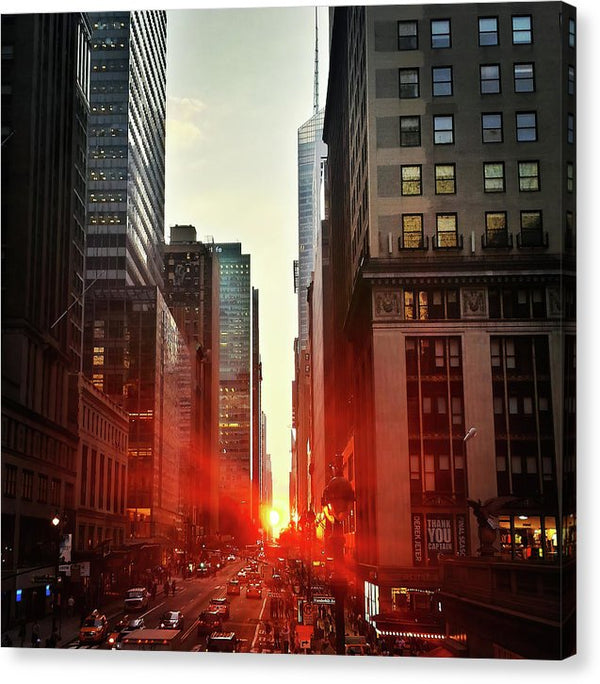 Manhattan Sunset - Canvas Print from Wallasso - The Wall Art Superstore
