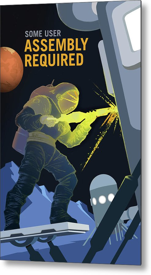 Mars Assembly Required NASA Poster - Metal Print from Wallasso - The Wall Art Superstore