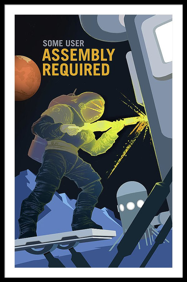 Mars Assembly Required NASA Poster - Framed Print from Wallasso - The Wall Art Superstore