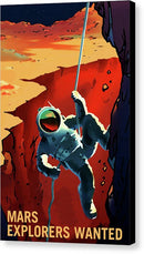 Mars Explorers Wanted NASA Poster - Canvas Print from Wallasso - The Wall Art Superstore
