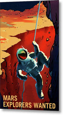 Mars Explorers Wanted NASA Poster - Metal Print from Wallasso - The Wall Art Superstore