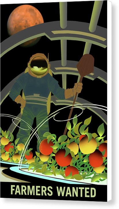 Mars Farmers Wanted NASA Poster - Canvas Print from Wallasso - The Wall Art Superstore