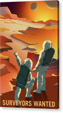 Mars Surveyors Wanted NASA Poster - Acrylic Print from Wallasso - The Wall Art Superstore