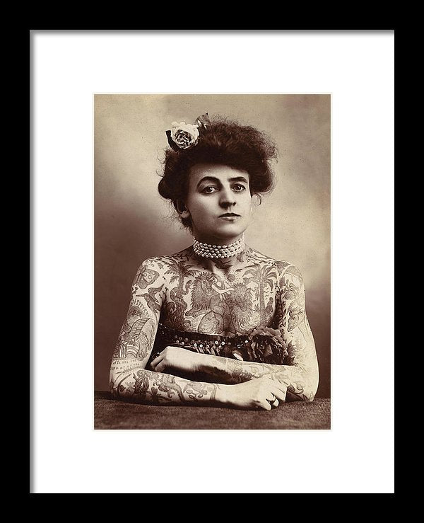 Maud Wagner First Female Tattoo Artist, 1907 - Framed Print from Wallasso - The Wall Art Superstore