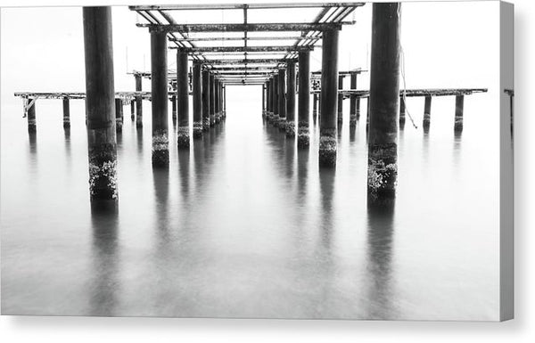 Metal Remains of Old Pier - Canvas Print from Wallasso - The Wall Art Superstore