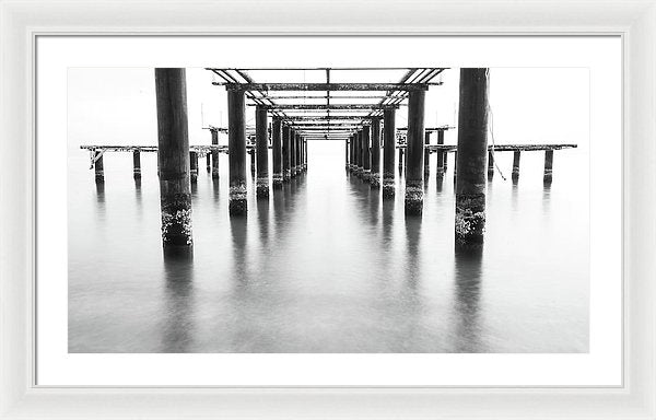 Metal Remains of Old Pier - Framed Print from Wallasso - The Wall Art Superstore