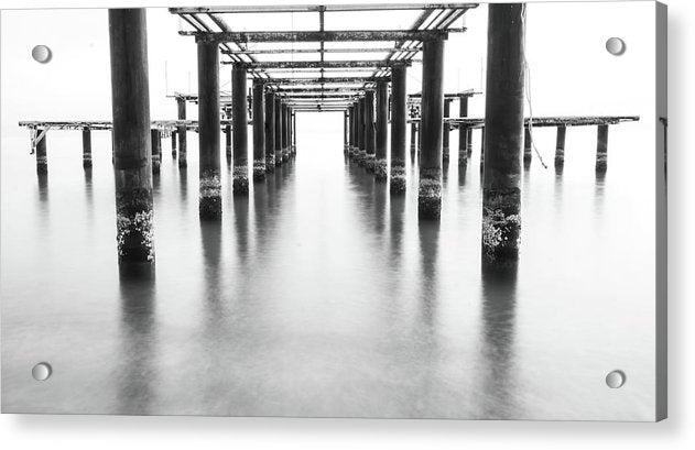 Metal Remains of Old Pier - Acrylic Print from Wallasso - The Wall Art Superstore