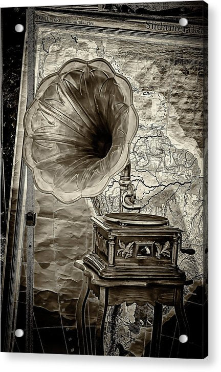 Metallic Phonograph Turntable - Acrylic Print from Wallasso - The Wall Art Superstore