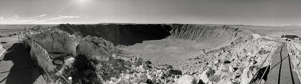 Meteor Crater Arizona Panorama - Art Print from Wallasso - The Wall Art Superstore