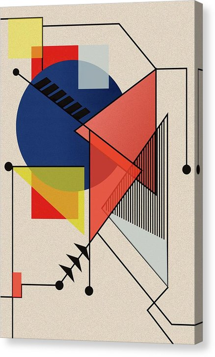 Midcentury Modern German Bauhaus Design - Canvas Print from Wallasso - The Wall Art Superstore