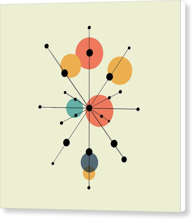 Midcentury Modern Sputnik by Jessica Contreras - Canvas Print from Wallasso - The Wall Art Superstore