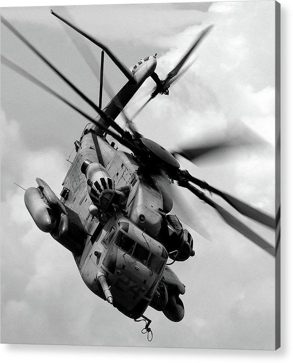 Military Boeing Ch-47 Chinook Helicopter - Acrylic Print from Wallasso - The Wall Art Superstore