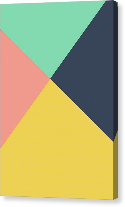 Minimalist Retro 1980s Design With Muted Colors - Canvas Print from Wallasso - The Wall Art Superstore