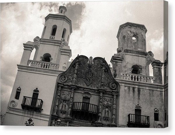 Mission San Xavier Del Bac Catholic Church In Tucson, Arizona, Sepia - Canvas Print from Wallasso - The Wall Art Superstore
