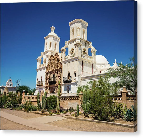Mission San Xavier Del Bac Catholic Church In Tucson, Arizona - Canvas Print from Wallasso - The Wall Art Superstore