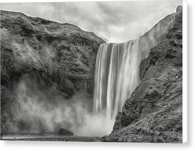 Misty Waterfall - Canvas Print from Wallasso - The Wall Art Superstore