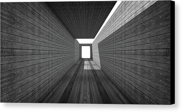 Modern Abstract Hallway With Wood Grain - Canvas Print from Wallasso - The Wall Art Superstore