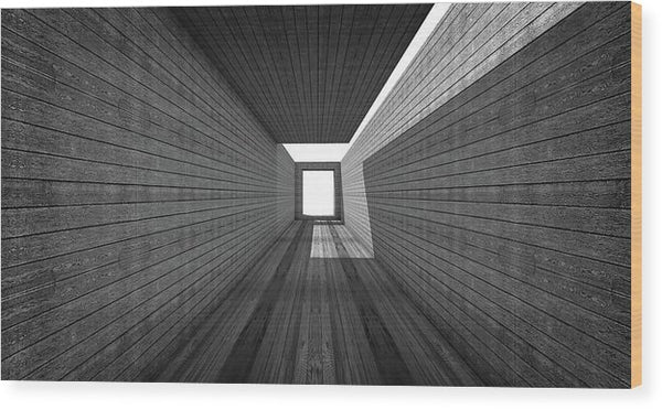 Modern Abstract Hallway With Wood Grain - Wood Print from Wallasso - The Wall Art Superstore