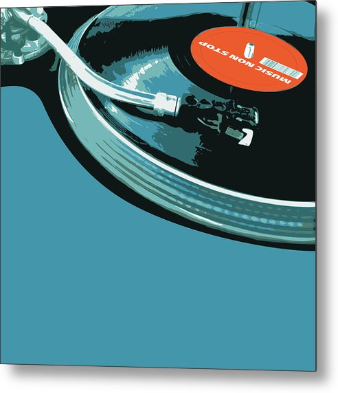 Modern Pop Art Vinyl Record Turntable - Metal Print from Wallasso - The Wall Art Superstore