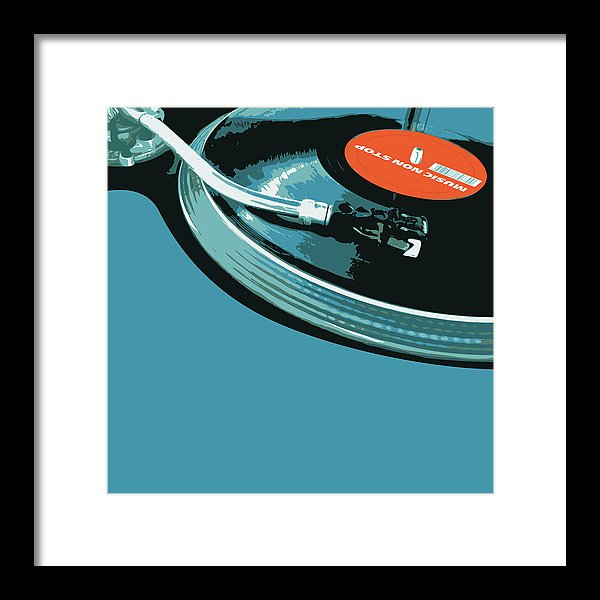 Modern Pop Art Vinyl Record Turntable - Framed Print from Wallasso - The Wall Art Superstore