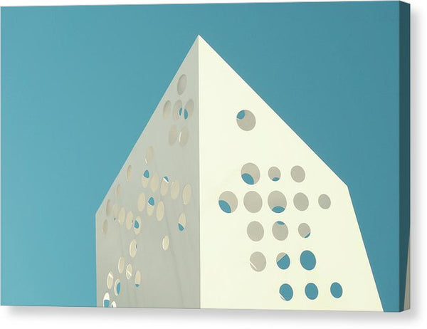 Modern Sculpture With Holes - Canvas Print from Wallasso - The Wall Art Superstore
