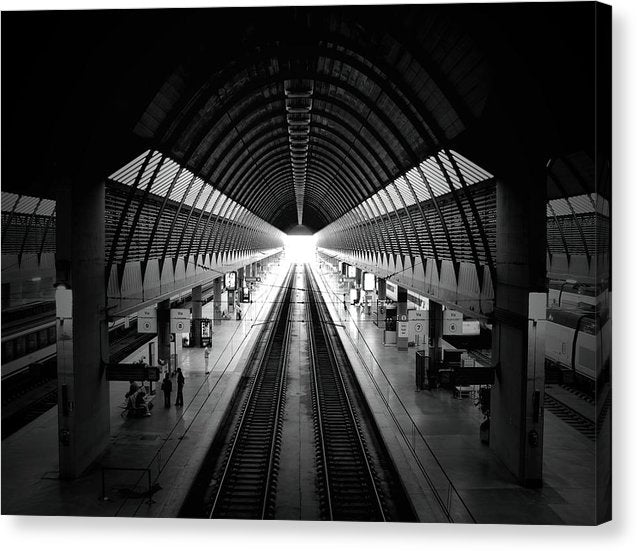 Modern Train Station - Canvas Print from Wallasso - The Wall Art Superstore