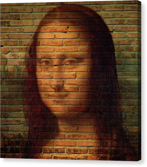 Mona Lisa Brick Wall Texture - Canvas Print from Wallasso - The Wall Art Superstore