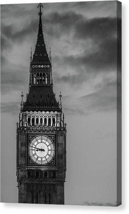 Moody Big Ben Clock Tower - Canvas Print from Wallasso - The Wall Art Superstore