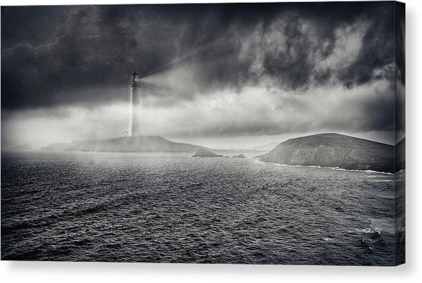 Moody Lighthouse - Canvas Print from Wallasso - The Wall Art Superstore
