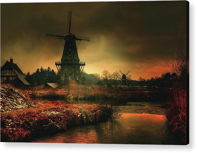 Moody Windmill - Acrylic Print from Wallasso - The Wall Art Superstore