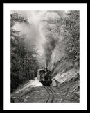 Mountain Locomotive Billowing Smoke - Framed Print from Wallasso - The Wall Art Superstore