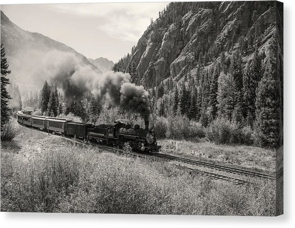 Mountain Locomotive - Canvas Print from Wallasso - The Wall Art Superstore