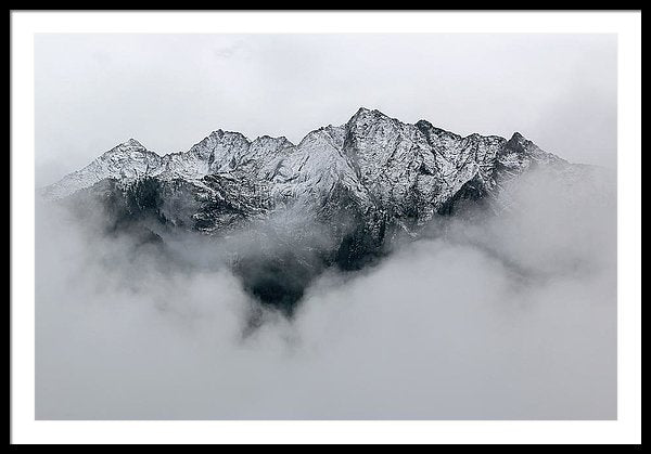 Mountain Tops Through Clouds - Framed Print from Wallasso - The Wall Art Superstore