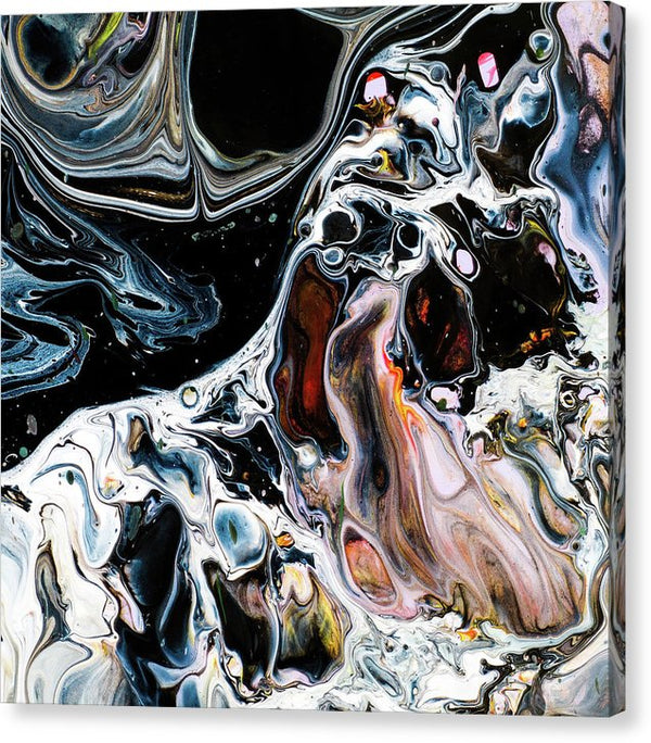 Multicolored Acrylic Pour Abstract Painting - Canvas Print from Wallasso - The Wall Art Superstore