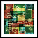Multilayered Coffee Cup Design - Framed Print from Wallasso - The Wall Art Superstore