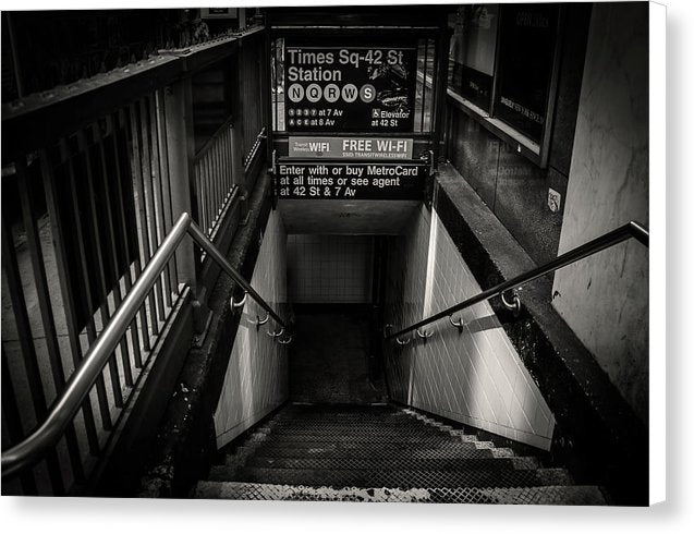 New York City Subway Entrance - Canvas Print from Wallasso - The Wall Art Superstore