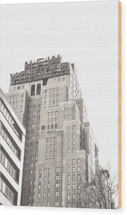 New Yorker Hotel, NYC - Wood Print from Wallasso - The Wall Art Superstore