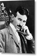 Nikola Tesla Portrait, 1896 - Metal Print from Wallasso - The Wall Art Superstore