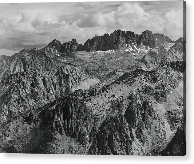 North Palisade From Windy Point, Kings River Canyon, California by Ansel Adams, 1936 - Acrylic Print from Wallasso - The Wall Art Superstore