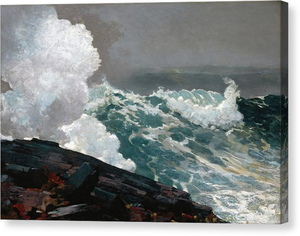 Northeaster By Winslow Homer, 1895 - Canvas Print from Wallasso - The Wall Art Superstore